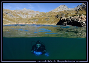 High Altitude Lake diving in the Swiss Alps... Que du bon... by Michel Lonfat 